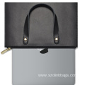 PU Leather Laptop Tote Bag for Women Men