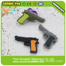Gun shaped eraser for school use