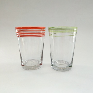 solid color high ball glass cup for juice