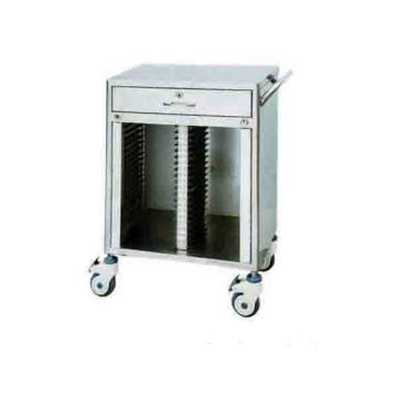 Stainless steel 40 lattice medical records folder