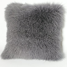 China for Mongolian Fur Pillow Curly Lamb Sheepskin Pillow export to Bouvet Island Factories