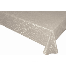 Solid Embossed Fabric Ivory Elegant Tablecloth