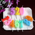 Paraffin wax number Birthday candle for birthday cake