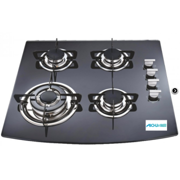 Black Toughened Glass Working Top Hob
