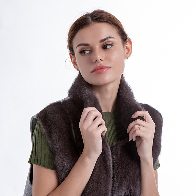 Woman Fur Cashmere vest