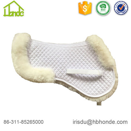 white sheepskin saddle pad