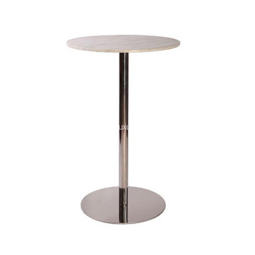 Factory Cheap price for Gold Color Stainless Steel Coffee Table Brief Style Bar Table with Stainless Steel Base supply to Italy Exporter