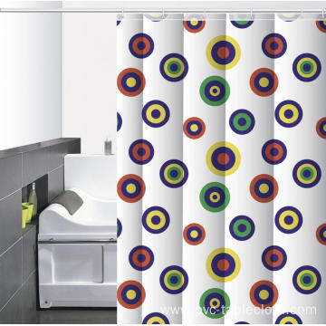 Waterproof Bathroom printed Shower Curtain O Rings