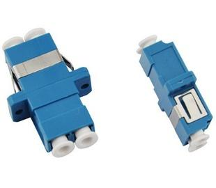 LC duplex fiber optic adapter