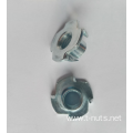 Flange Face 4P M6x9 Zinc Plated T-Nut