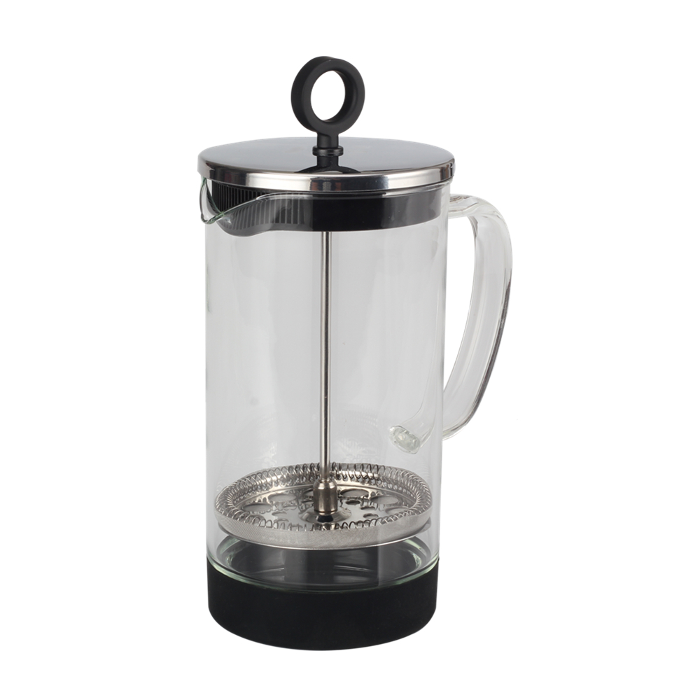 Glass French Press With Silicone Base Glass French Press