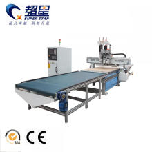Good Quality for Best Upload And Download Woodworking Machine,3D Cnc Wood Engraving Machine Manufacturer in China Cnc router 1325 with auto feeding system export to Brazil Manufacturers
