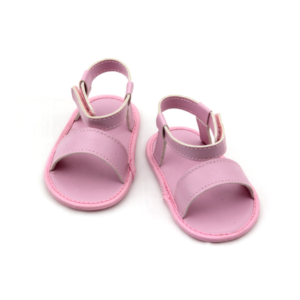 Wholesales PU Leather Pink Baby Girls Sandals