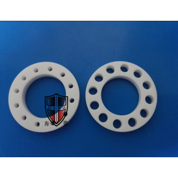 alumina ceramic machinery flange plate parts industrial