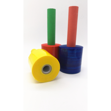 3 color handle translucent stretch film roll
