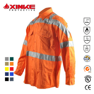 Cotton Material Long Sleeve Fire Retardant Shirts