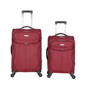 Unique fabric customized Professional fabric travel luggage