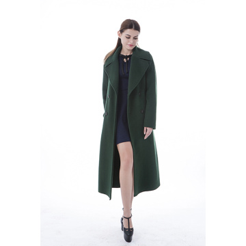 Fashionable green cashmere coat