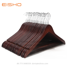 Bottom price for Wooden Hotel Hangers EISHO Multifunctional High Grade Solid Wooden Suit Hangers export to Russian Federation Exporter