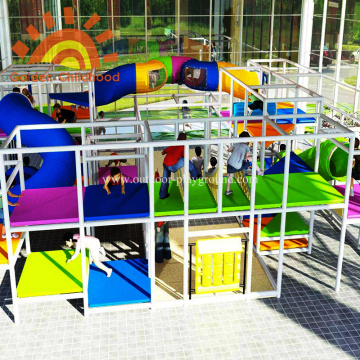 Large Indoor Structures Playground Equipment With Climbing