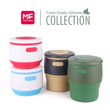 BPA free Silicone Collapsible Travel Mug