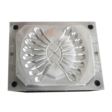 Multi-cavity small plastic spoon injection moulds