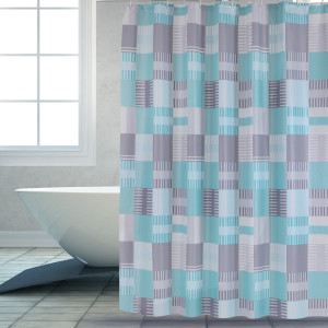 Good User Reputation for for Peva Shower Curtain Shower Curtain PEVA Blue Square supply to Lesotho Factories