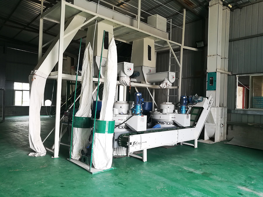 Bamboo pellet production line