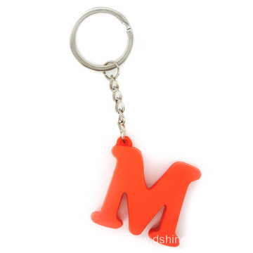 NEW Custom Handmade Soft PVC Keychains Words Rubber Keyrings