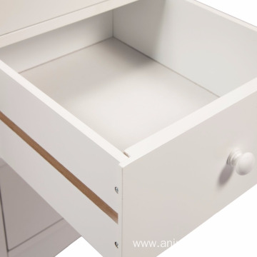 3-Drawer Wooden Bedside Cabinet Table  3-Drawer Wooden Bedside Cabinet Table Storage Unit, 38 x 44 x 58 cm, White