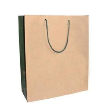 100gsm brown kraft shopping paper bag logo customized