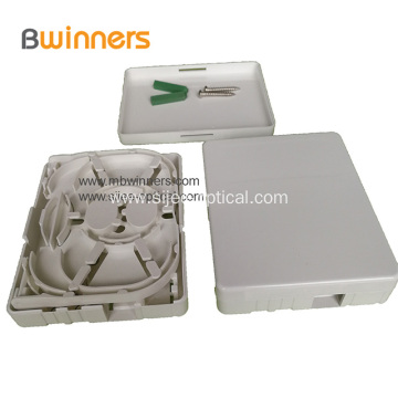 2 Ports FTTH Fiber Optic Termination Box Socket Panel