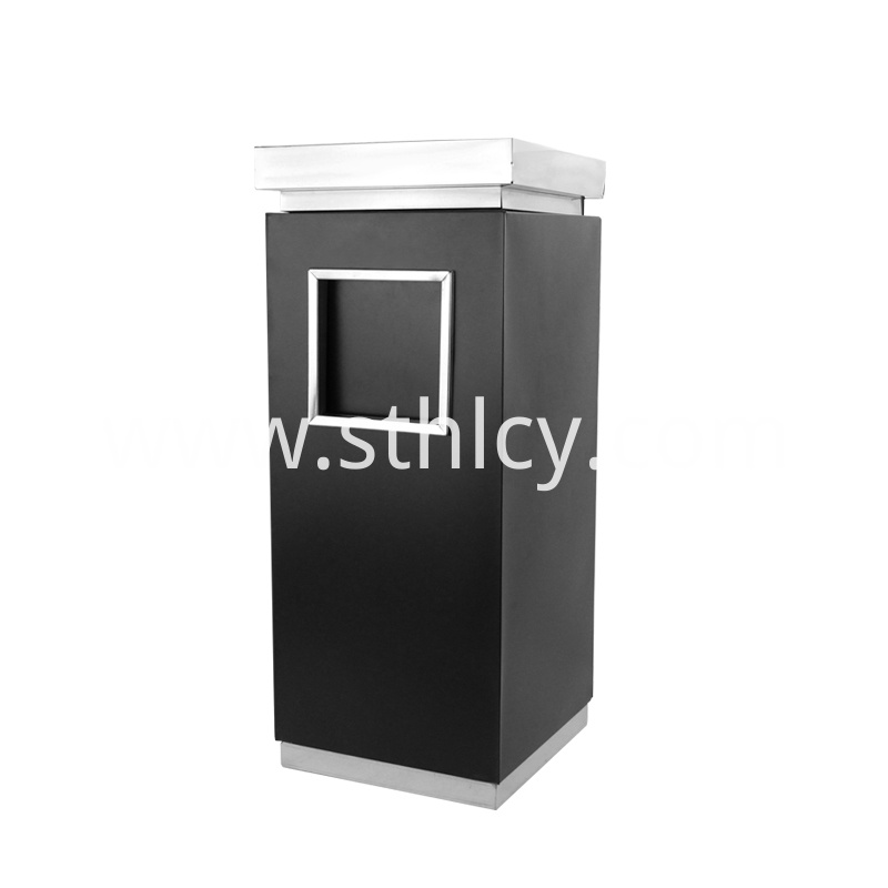 Natural Stainless Steel Waste Bin