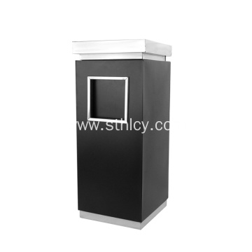 Natural 410 Cuboid Stainless Steel Garbage Can