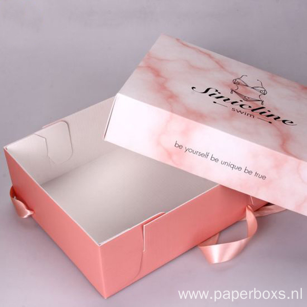 Elegant Design Marble Series Clothing Packing Paper Box
