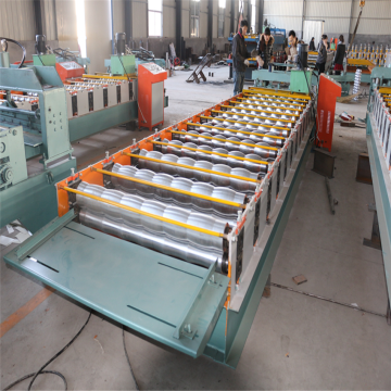 Circular Arc Glazed Tile Roll Forming Building Machine
