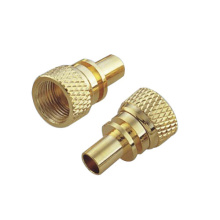 Brass Nut With Coarse Diamond Knurled