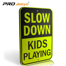 slow down kids safety aluminum sign