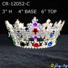 Wholesale Cheap Rhinestone Full Round Pageant Crowns