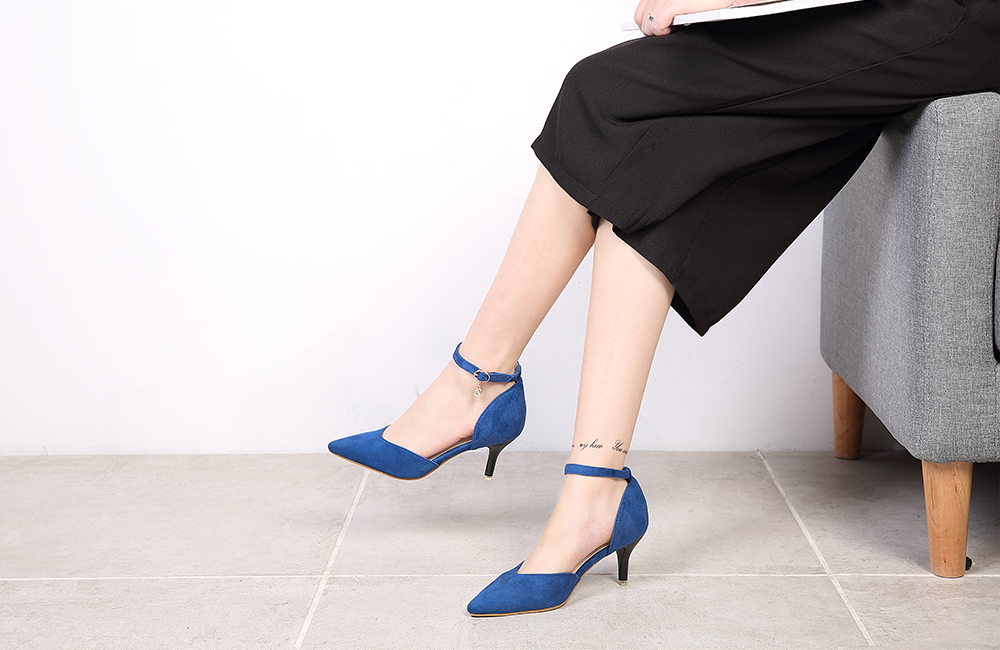 Women Suede Middle Heel Shoes
