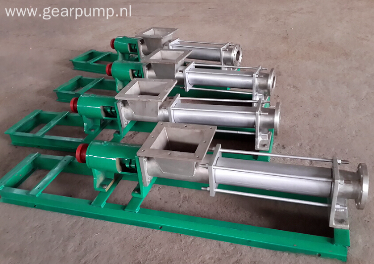 Stainless steel sauce screw pump
