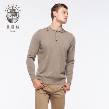 Men's Cashmere Polo Sweater