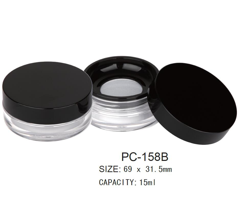 Round loose powder container