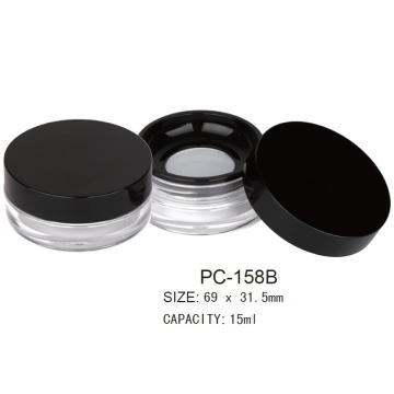 Plastic Round Cosmetic Loose Powder Container