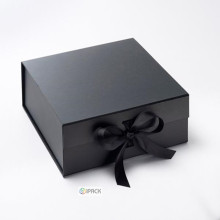 Custom Paper Flip Top Gift Boxes with Ribbon