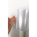 Transparent handle stretch film roll