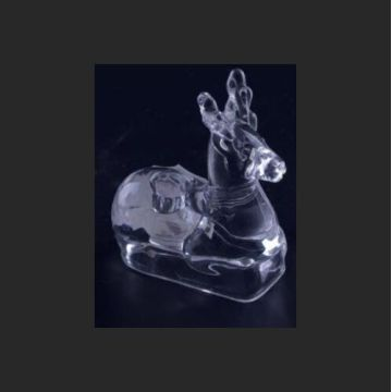 Glass Deer Tealight Holder Without Legs