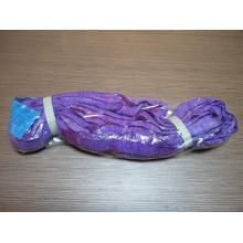 PriceList for for Round Lifting Slings Purple Color 1Ton Polyester Endless Sling Belt supply to Grenada Importers
