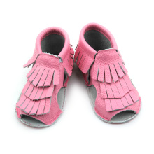 Big discounting for Baby Moccasins Sandals New Designs Genuine Leather Baby Tassels Sandals supply to India Manufacturers