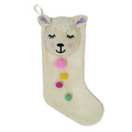 Cute llama christmas stocking